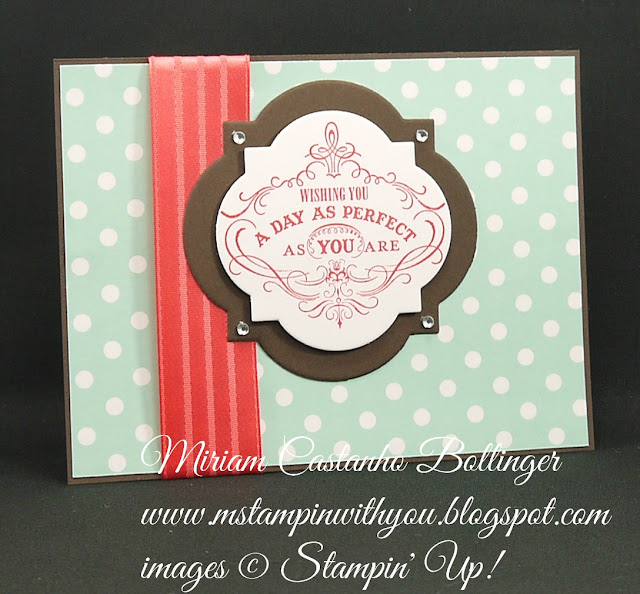 Miriam Castanho-Bollinger, #mstampinwithyou, stampin up, demonstrator, ppa, birthday card, schoolhouse dsp, vintage verses, big shot, labels collection, su