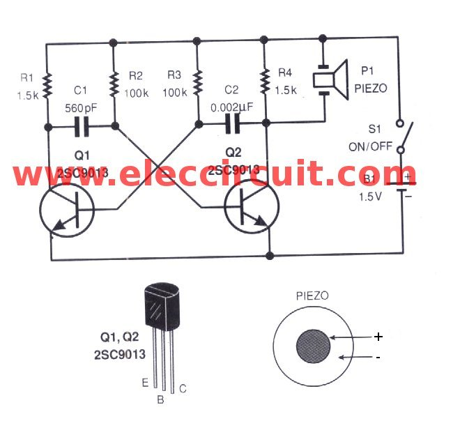 simple electronic mosquito repellent circuit diagram