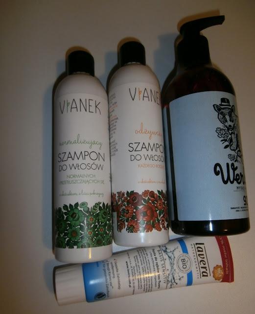 Styczniowe zakupy: szampony Vianek, mydło Yope i pasta do zębów bez fluoru Lavera