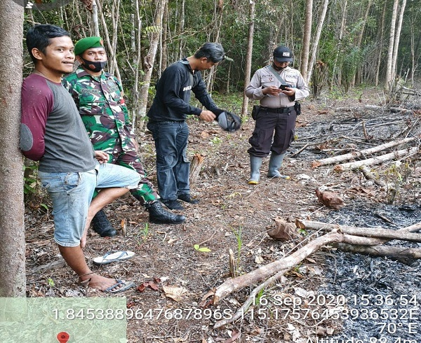 Kapolsek Dusun Tengah Pimpin Penanganan Titik Hotspot Diwilkum