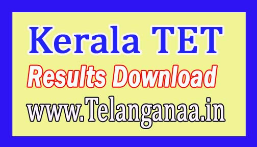 Kerala TET Results 2016 Download