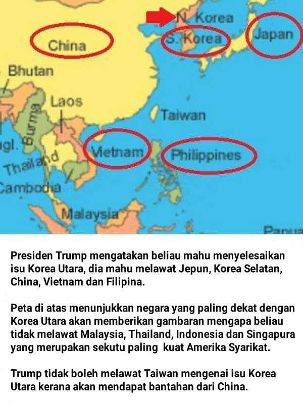 Malaysiakini Dan Pakatun Bersorak Gembira Trump Tidak Melawat Malaysia Sebab Tiada Pengetahuan Geografi.