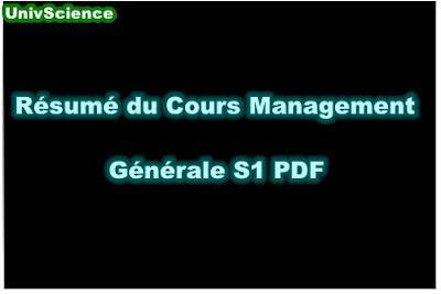 Résumé Du Cours Management S1 PDF.