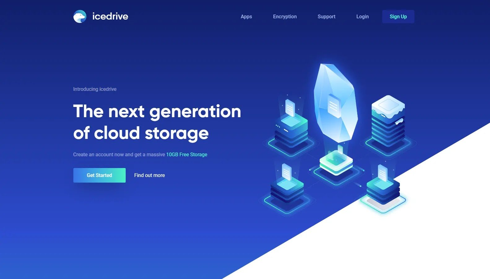 iceDrive - Some of the Best Free Cloud Storage Options in 2021