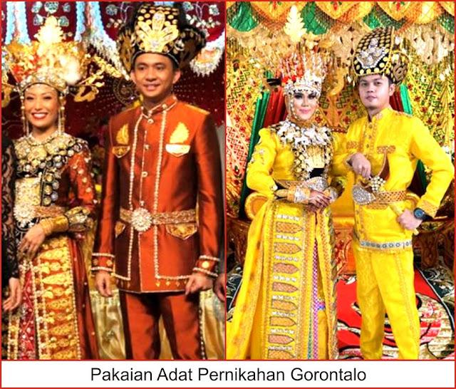 gambar pakaian adat pernikahan gorontalo