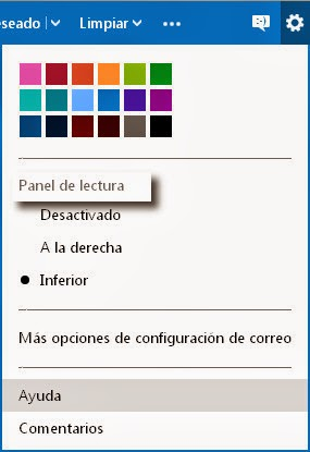 Outlook.com: Panel lectura