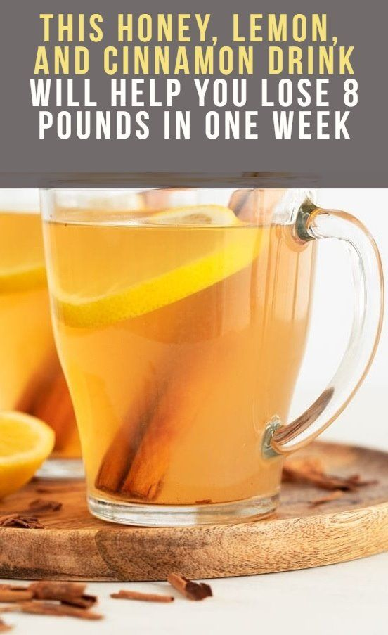 THIS HONEY, LEMON, AND CINNAMON DRINK WILL HELP YOU LOSE 8 POUNDS IN ONE WEEK