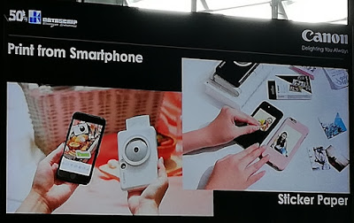 Canon iNSPiC [S] bisa dihubungkan dengan Smartphone melalui Bluetooth