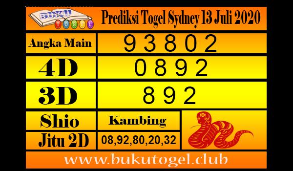 Prediksi Togel Sydney 13 Juli 2020