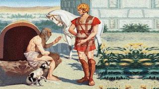 Se non fossi Alessandro, vorrei essere Diogene
