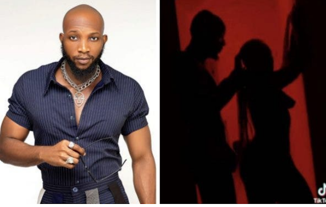 OMG😱! BBNaija Former Housemate, Tuoyo Shows Off His Manhood As He Joins The Silhouette Challenge (Watch Video)