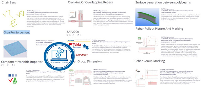 Trimble Tekla Reinforced Concrete Extensions