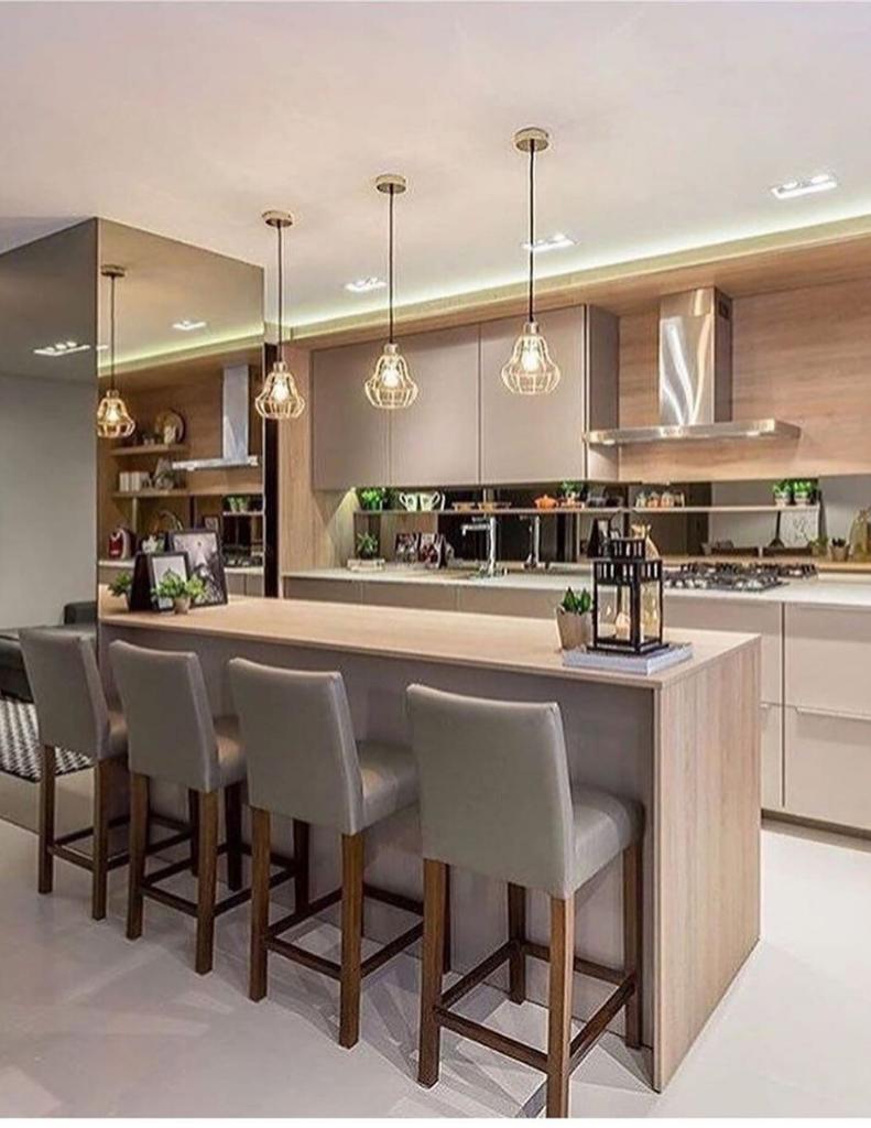 cozinha planejada inspiração simples e moderna 2