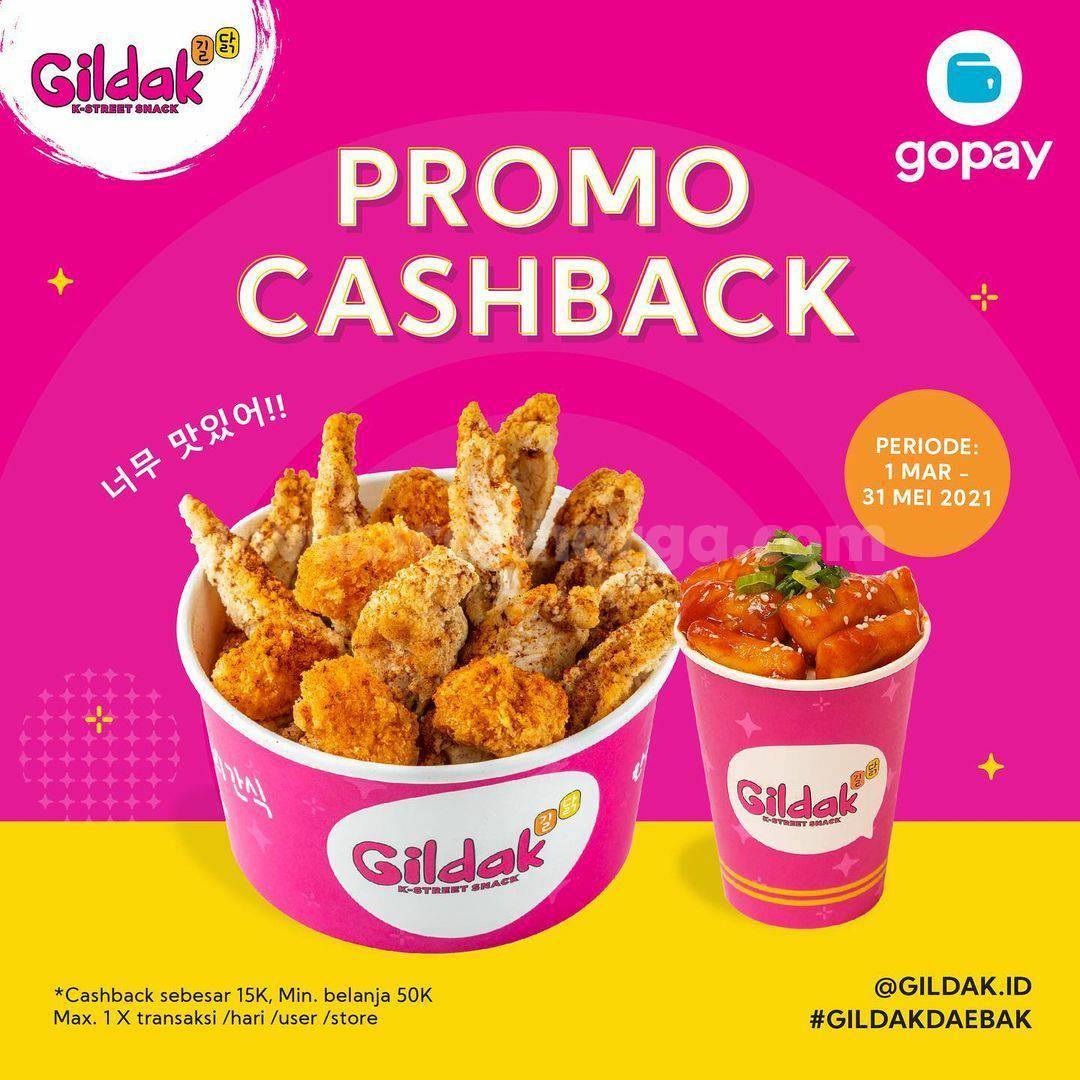 GILDAK Promo CASHBACK Rp 15.000 bayar pakai GOPAY