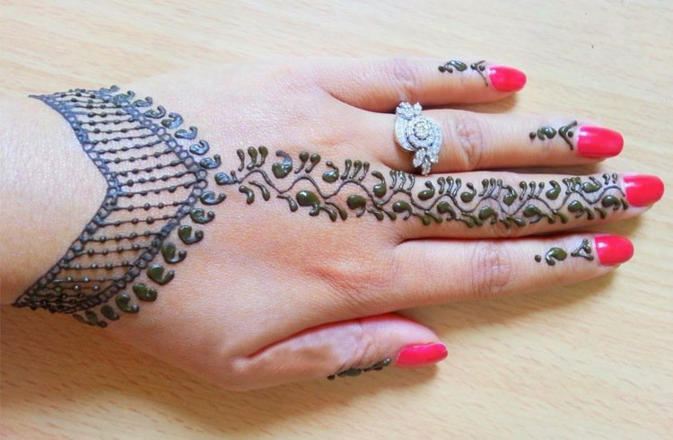 Wrist Jewellery Mehndi Designs For Hands