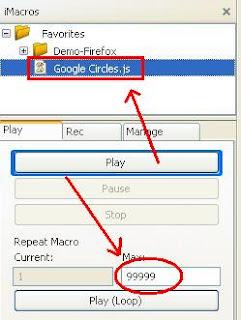 AddMeFast Google Plus Circles iMacros Script