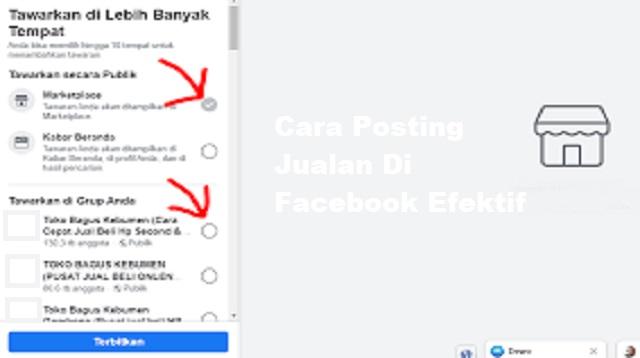 Cara Posting Jualan di FB