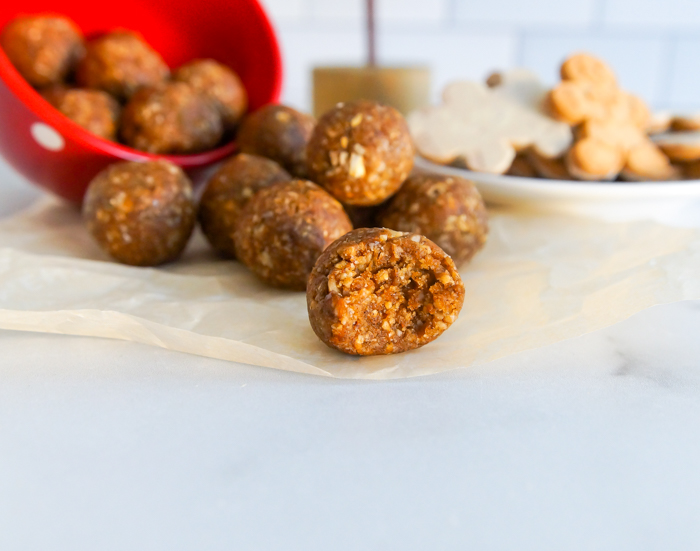 No-Bake Gingerbread Cookie Energy Balls