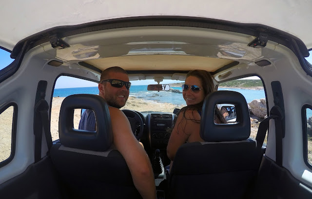 Couple Roadtripping Paros Island