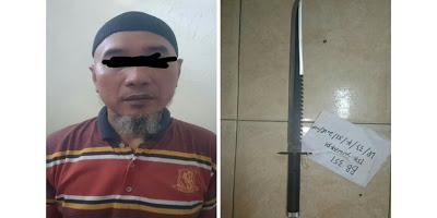 Aniaya Tetangga dengan Pedang Samurai, Pria Ini Diciduk Polisi