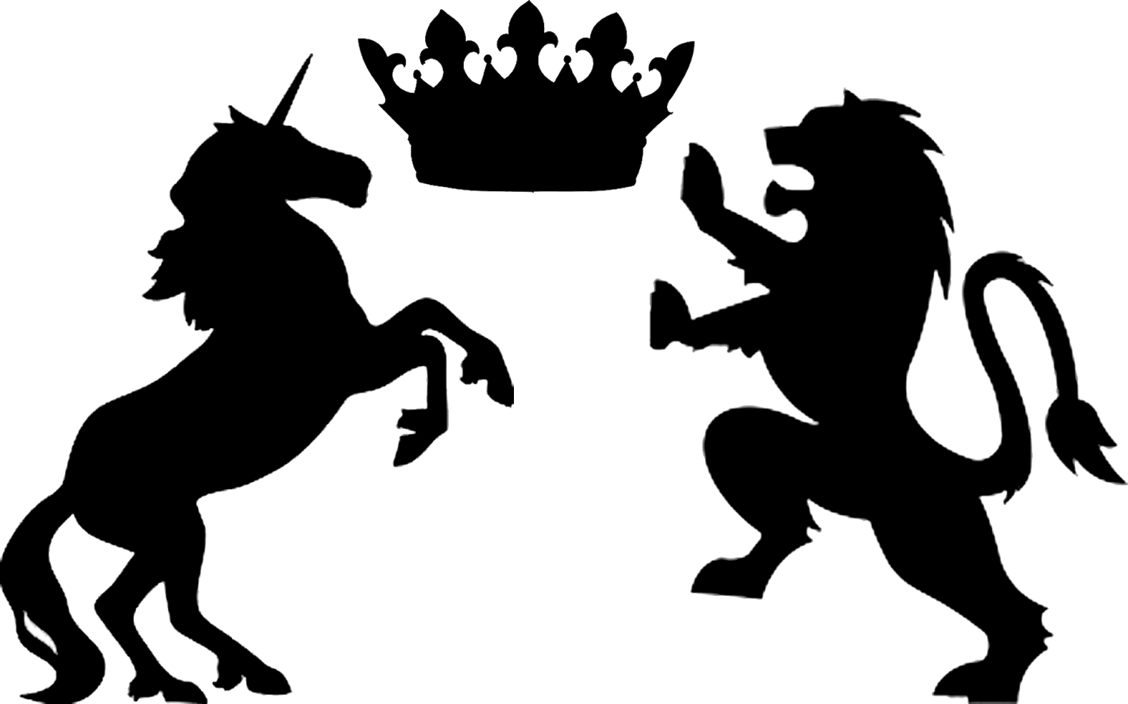 Doodlecraft Gold Glitter Lion And Unicorn