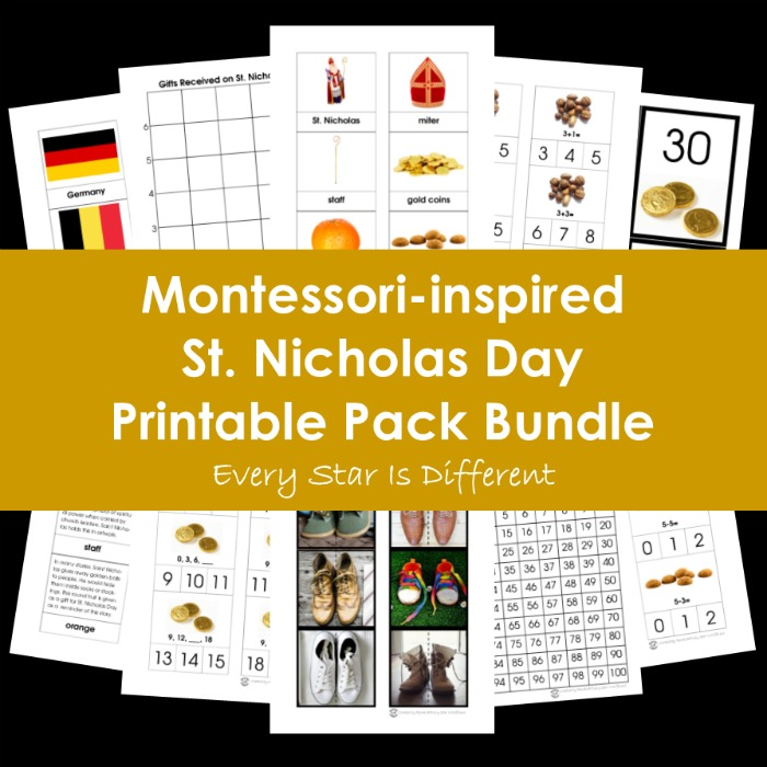 Montessori-inspired St. Nicholas Day Printable Pack