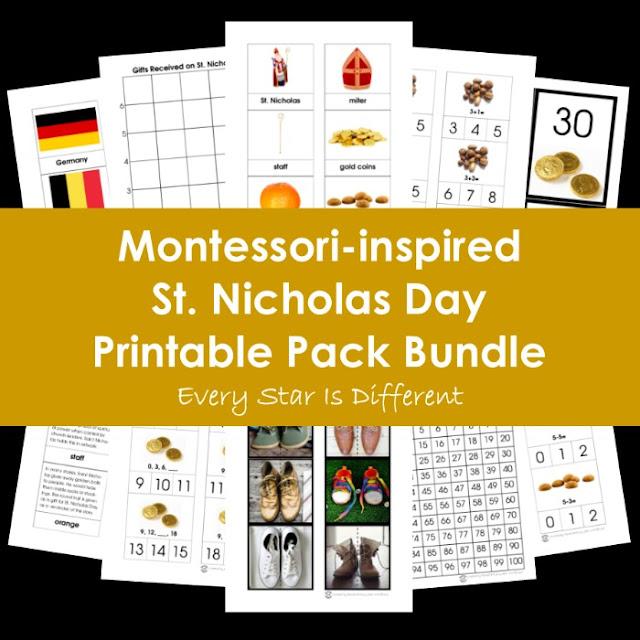 Montessori-inspired St. Nicholas Day Printable Pack