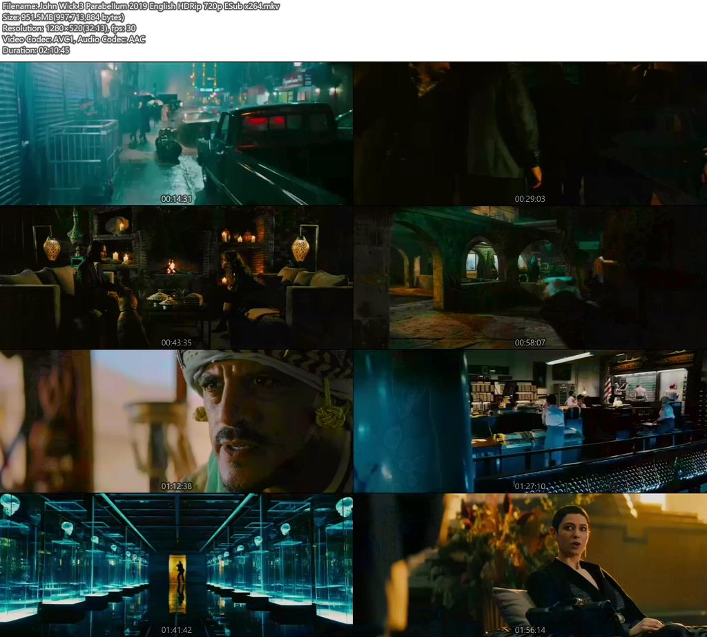 John Wick 3 Parabellum 2019 English HDRip 720p ESub x264 | 480p 300MB | 100MB HEVC Screenshot