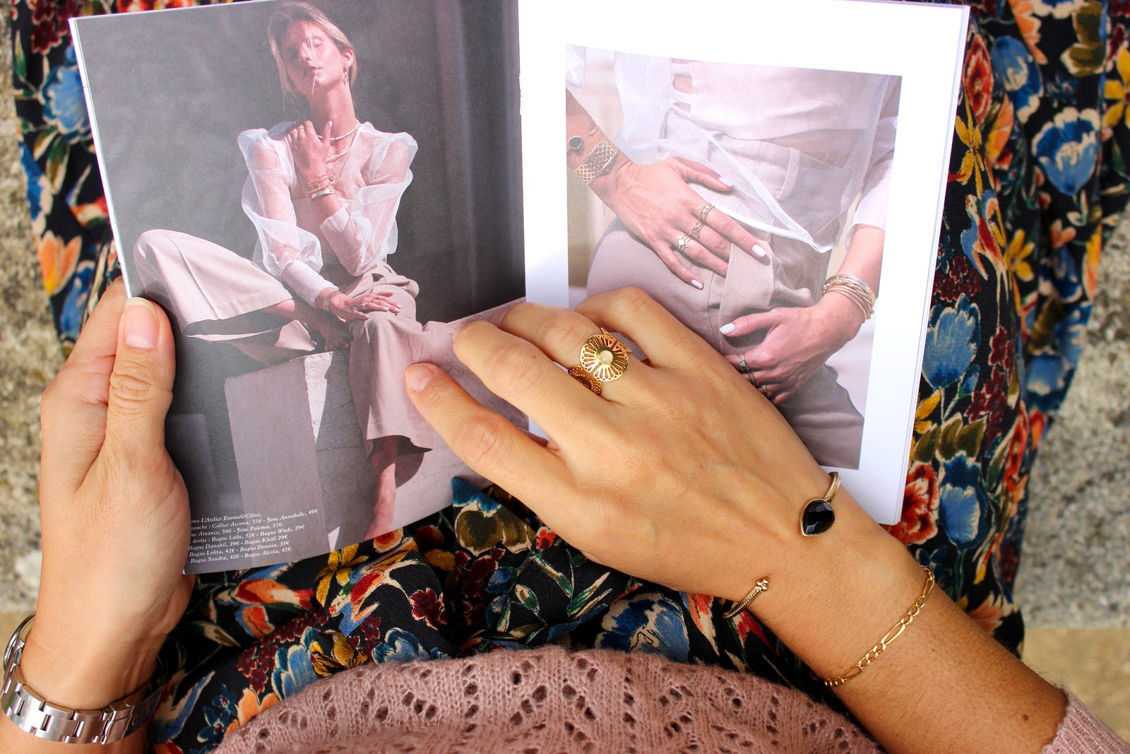 box emma et chloé, bijoux, jupe sézane, look du jour, les petites bulles de ma vie