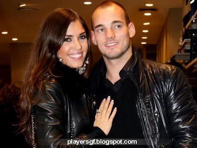 Wesley Sneijder and his wife Yolanthe Cabau van Kasbergen