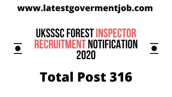UKSSSC%2BForest%2BInspector%2BRecruitment%2BNotification%2B2020  P Govt Job Online Form Hindi on