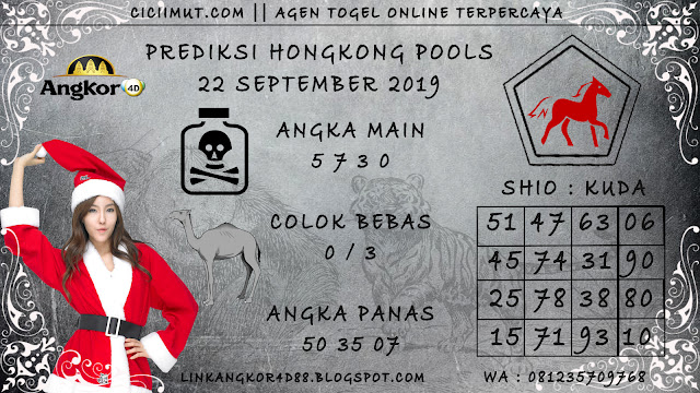 PREDIKSI HONGKONG POOLS 22 SEPTEMBER 2019