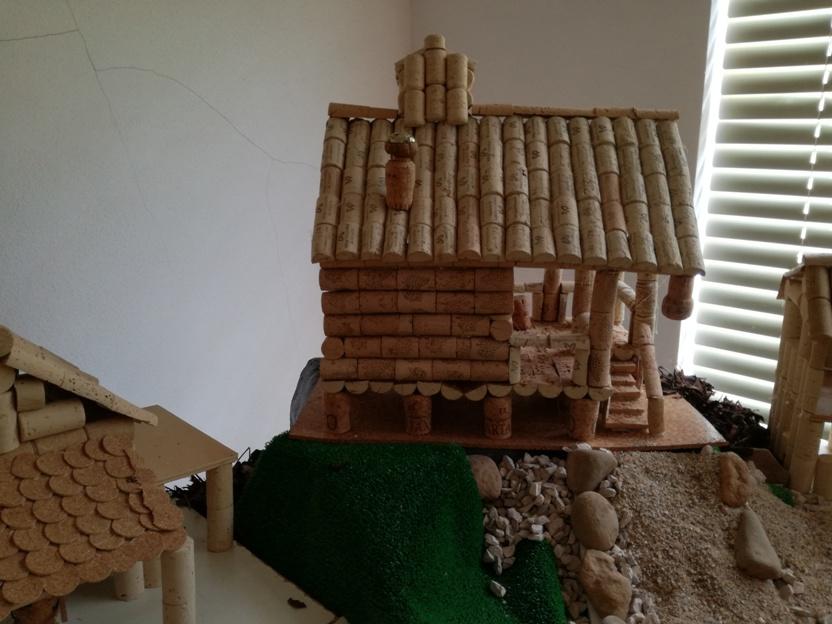 Casa em rolhas de Cortiça