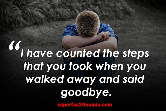 I have counted the steps that you took when you walked away and said goodbye.