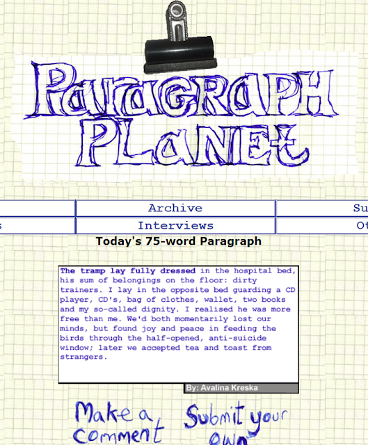 Paragraph Planet | The Tramp Lay Fully Dressed