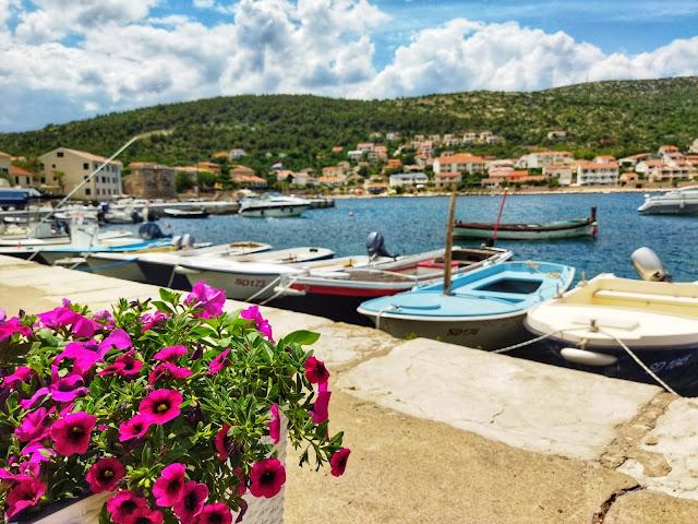 widok na port Chorwacja, okolice Zadaru, Pag