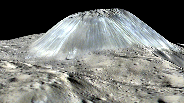 Ceres' geological activity, ice revealed in new research