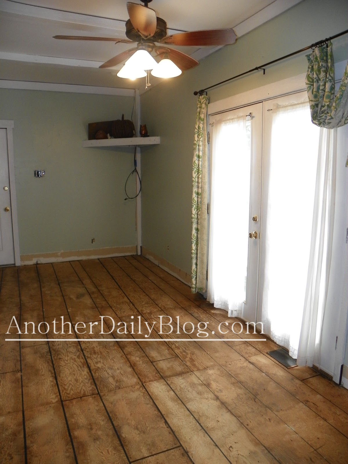 Another Daily Blog Diy How To Make Plywood Subfloor Look