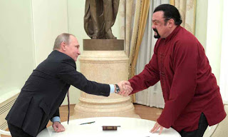 Steven Seagal recieves Russian passport from putin