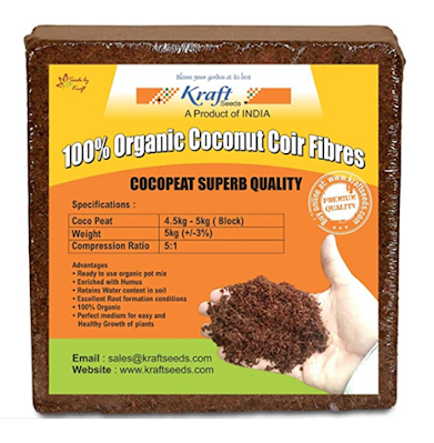 Kraft Seeds Compressed CocoPeat Block for Organic gardening