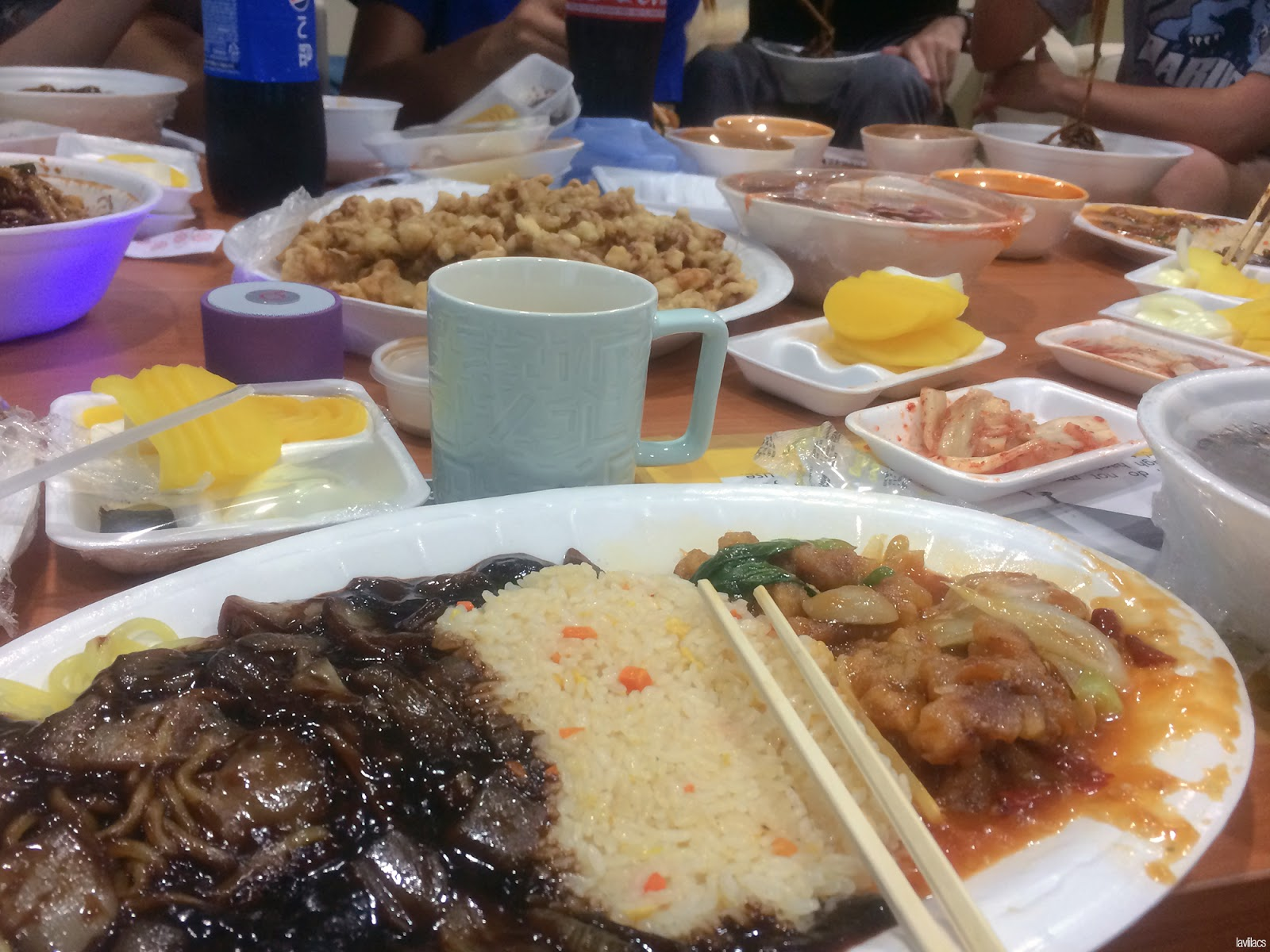 Seoul, Korea - Summer Study Abroad 2014 - Big Korean Chinese delivery night
