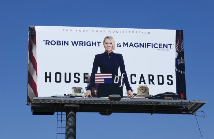 House of Cards final season 6 Emmy FYC billboard