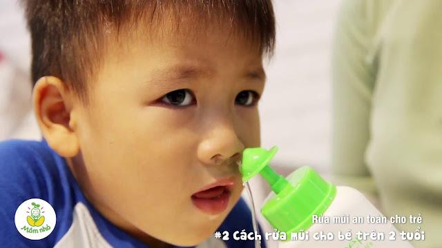 Cách sử dụng bình rửa mũi Dr.Green cho trẻ nhỏ