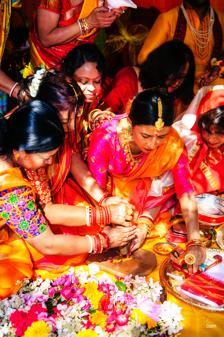 Bangladesh Indian Bengali Wedding Photography Holud Ceremony by SudeepStudio.com Michigan Ann Arbor South Asian Indian Wedding Photographer