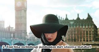 Topi bisa melindungi pandangan dari silaunya matahari