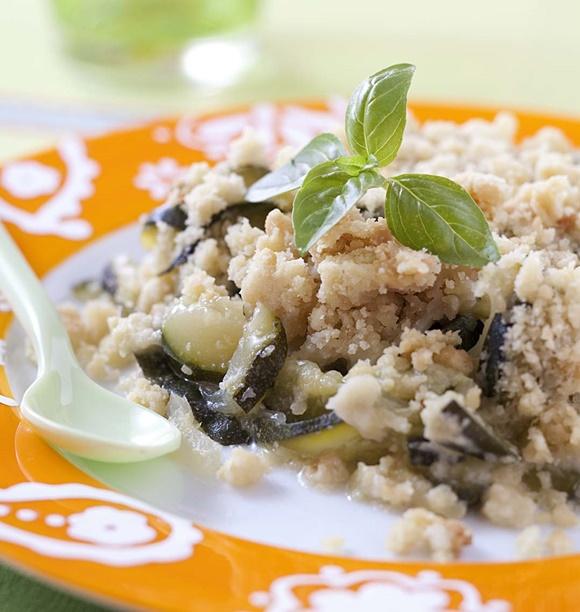 Crumble Aux Courgettes Parmesan Et Basilic