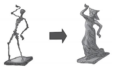 membuat patung dari bubur kertas www.simplenews.me