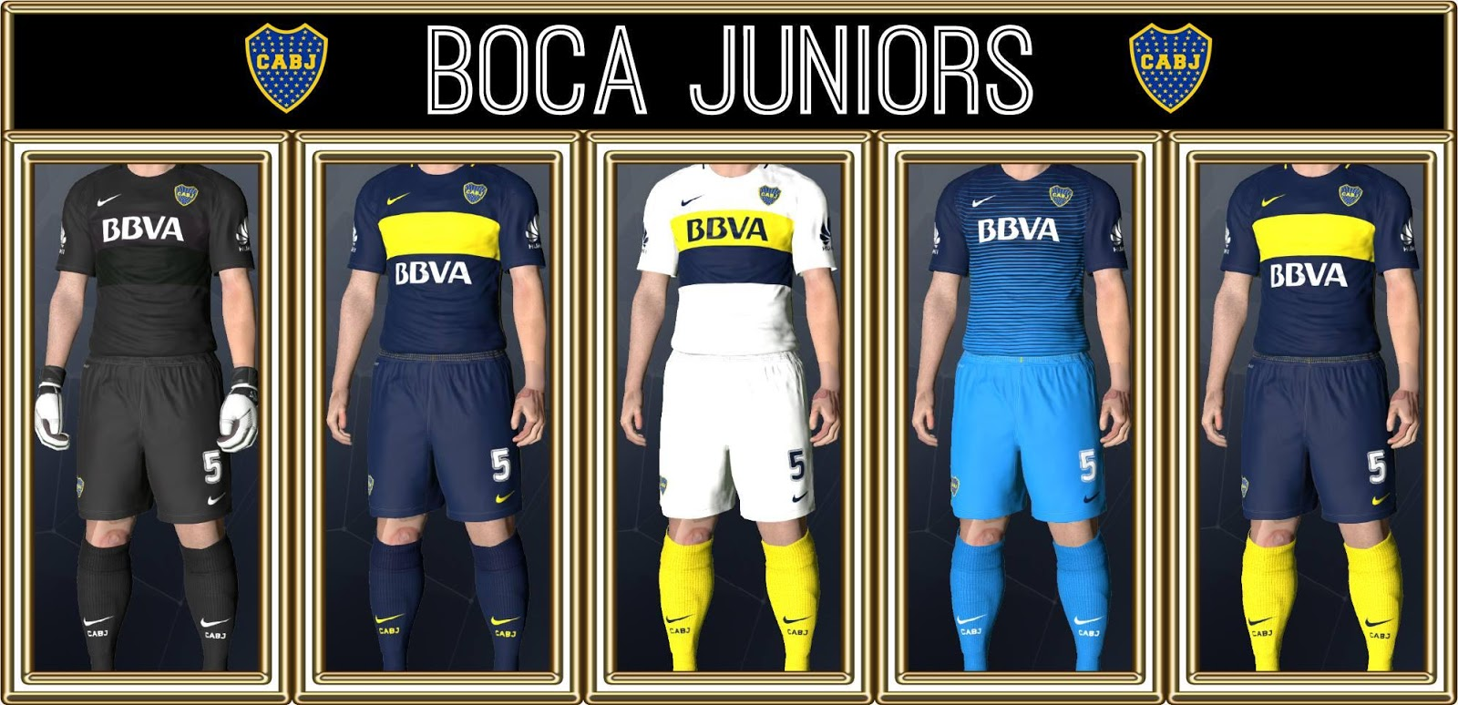 Ultigamerz: PES 2017 Boca Juniors New GDB Kits