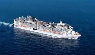 La nave piú grande della flotta Msc Crociere