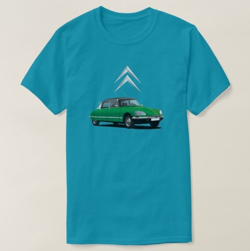 CItroën DS t-shirt green